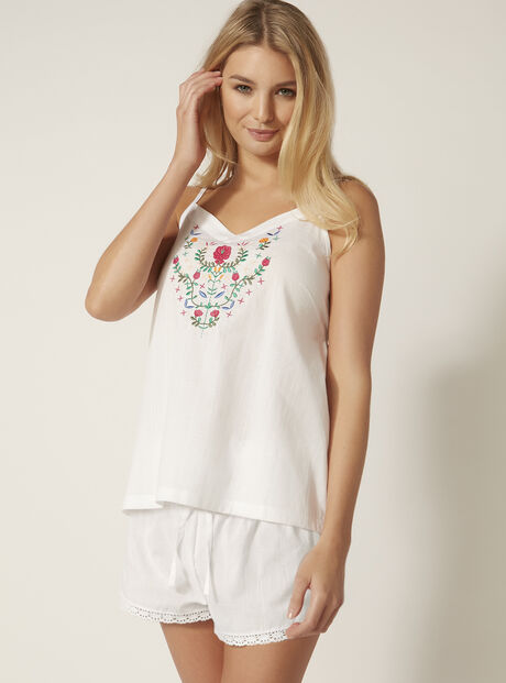 Heidi embroidered pyjama set