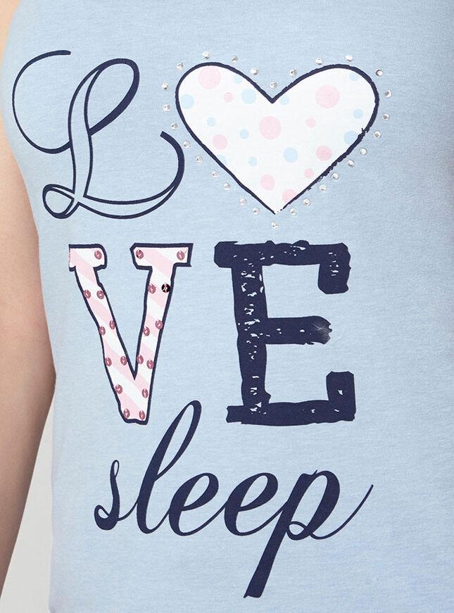 """Love sleep"" vest and shorts set"