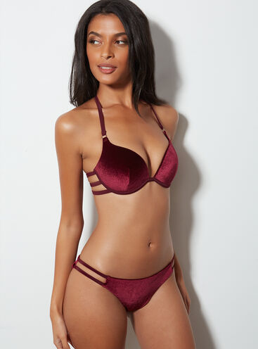 Velvet bikini briefs
