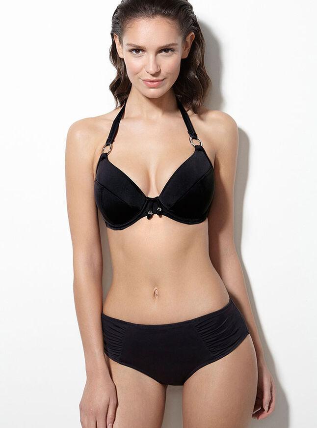 Mauritius matte ruched bikini briefs
