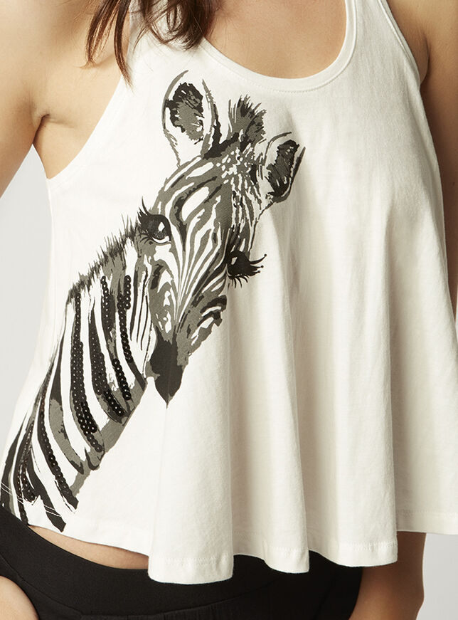 Nickie zebra swing vest and pants set