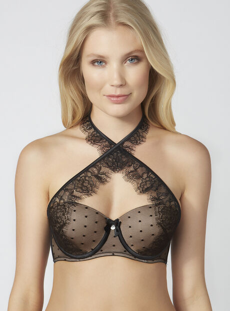 Malika cross front bra