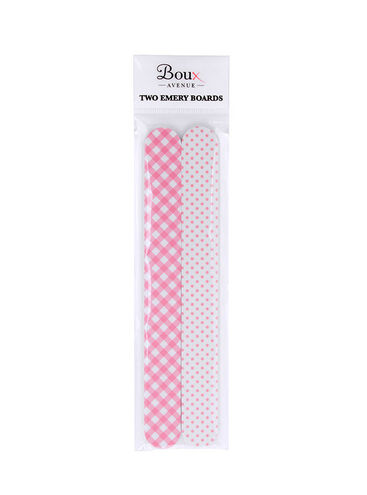 Gingham and spot print nail files