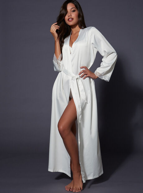 Frances long satin robe