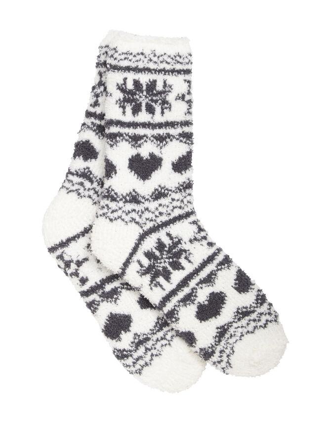 Fairisle chenille socks