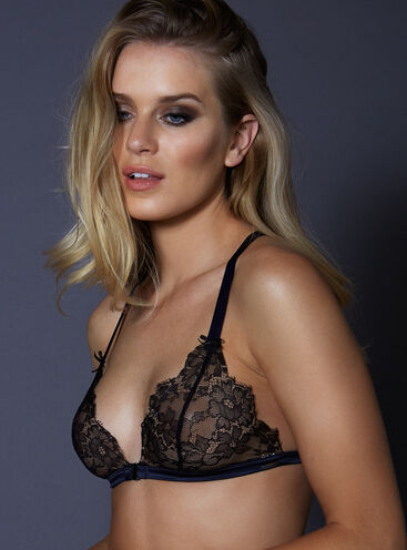Amelie lace strappy triangle bra