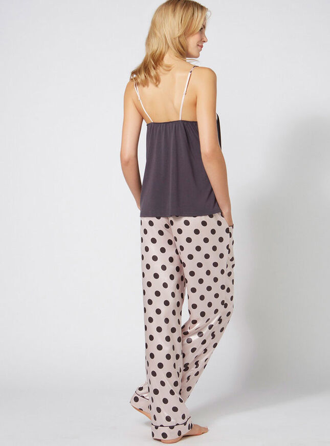 Kirsty spot camisole and pants set
