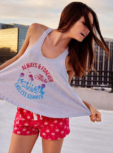 Aloha vest and shorts pyjama set