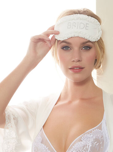 """Bride"" satin eye mask"