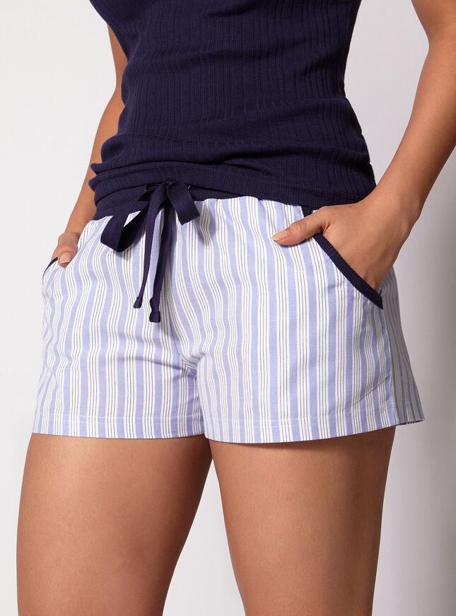 Boyfriend stripe cami and shorts
