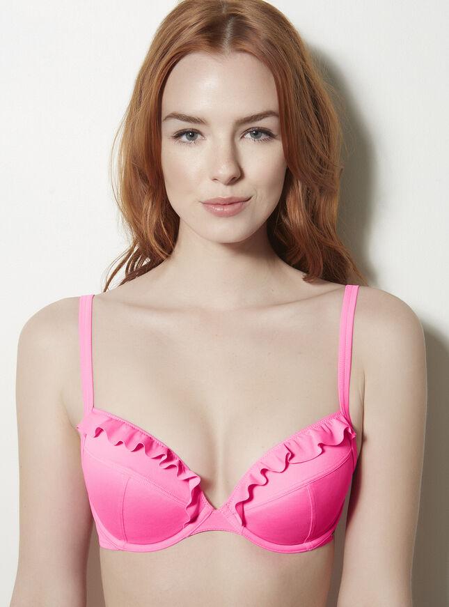 Miami frill bikini top