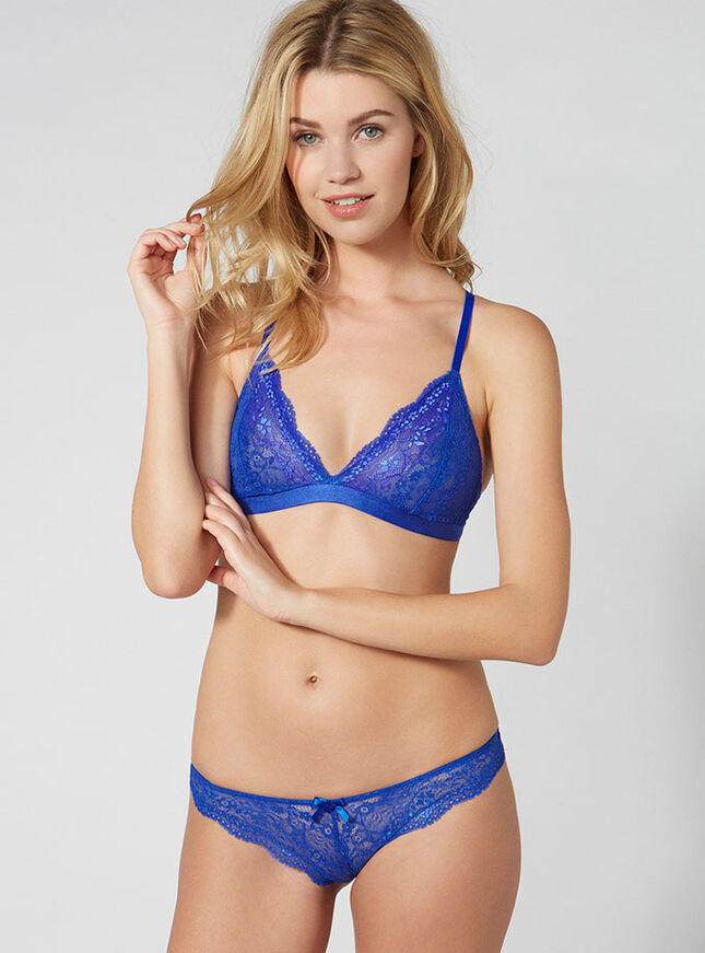 Lucie lace triangle bra