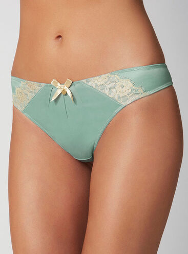 Grace satin thong