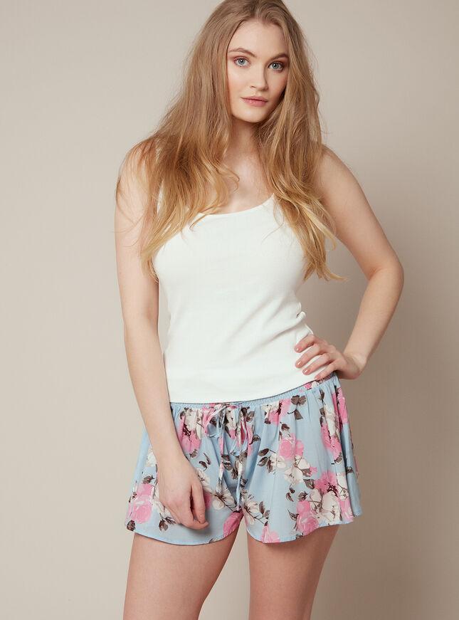 Floral skater shorts