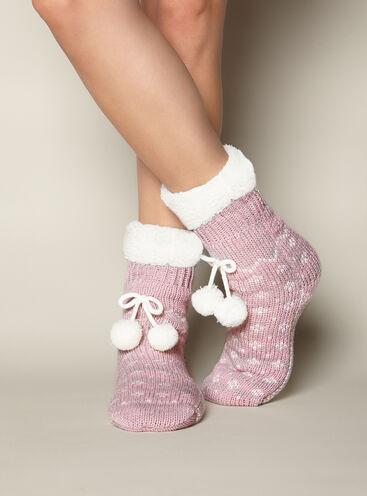 Fairisle cable knit socks
