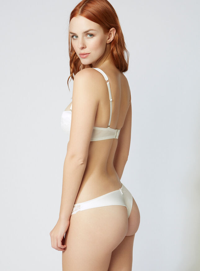 Angelina satin thong