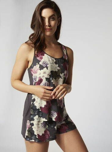 Dusky blossom cami and shorts set