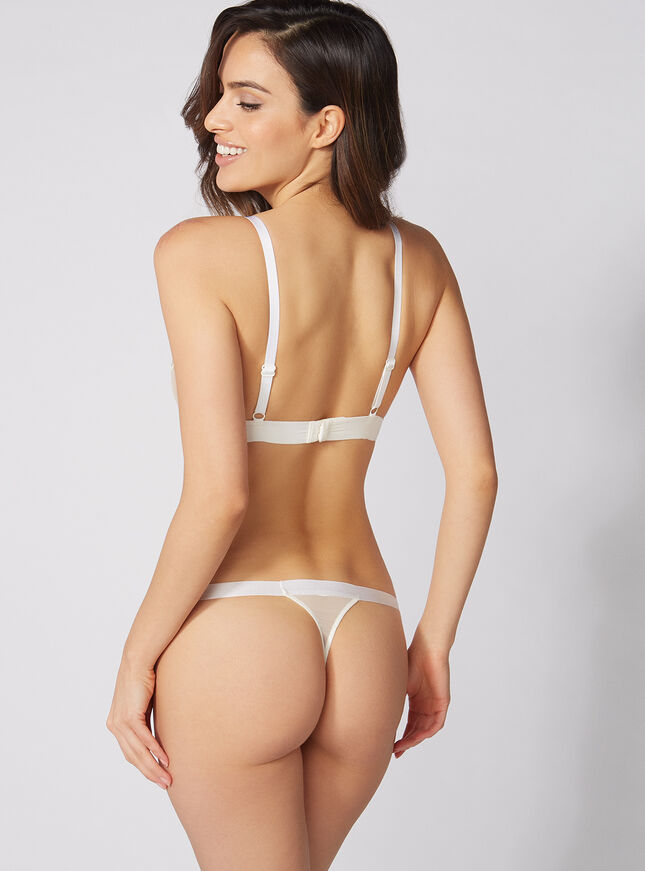 Lori embroidered thong