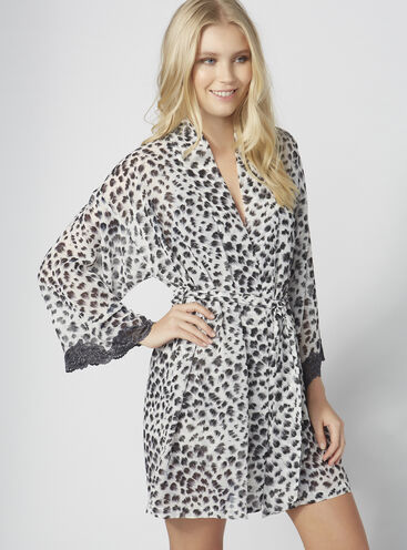 Anika animal chiffon robe