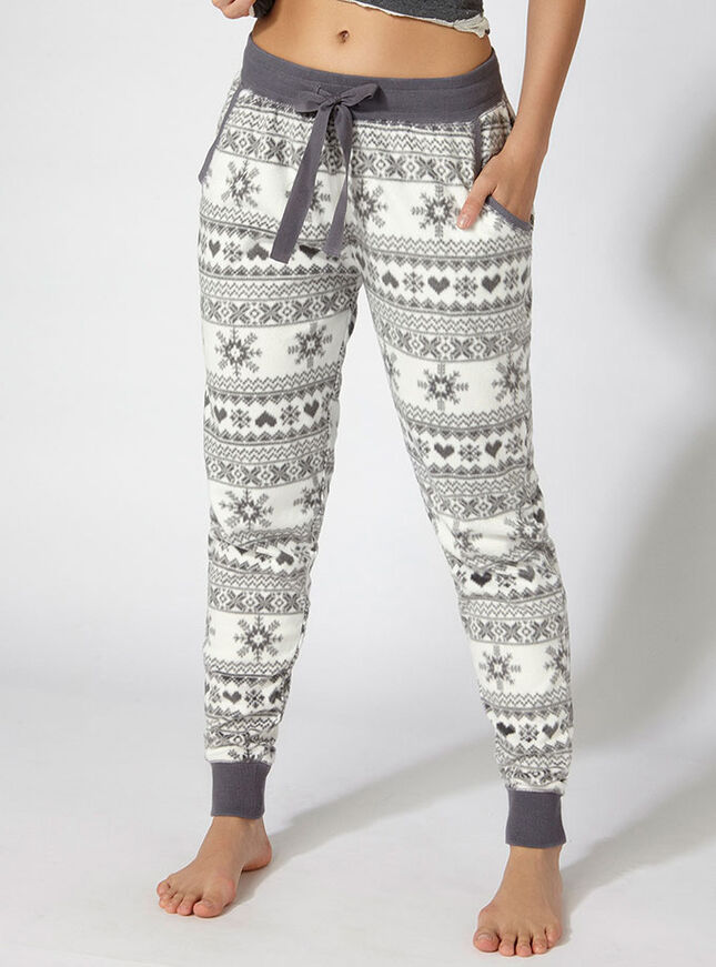 Minky fairisle fleece pants