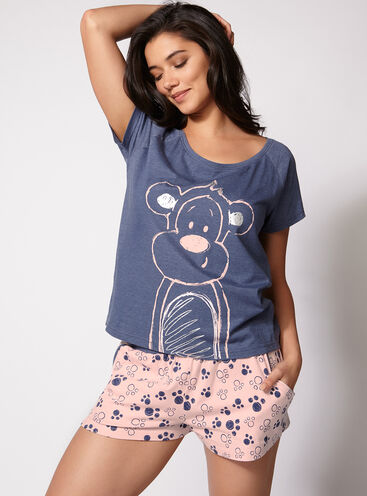 Monkey tee and shorts pyjama set