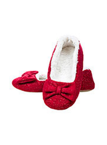 Paloma lurex bow slippers