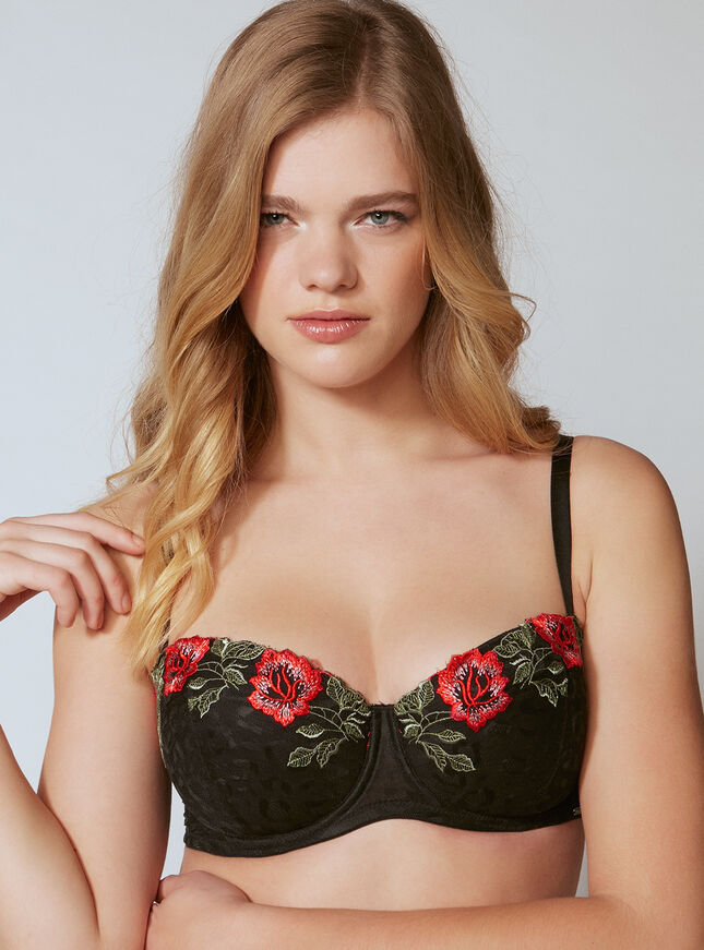 Jinny rose embroidered full support bra