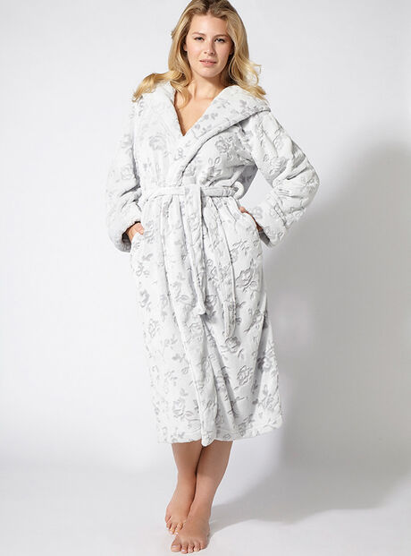 Florence floral hooded robe