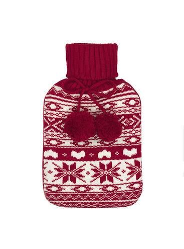 Fairisle hot water bottle 1L