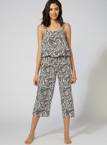 Boho crop jumpsuit
