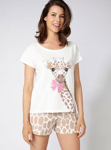 Gini giraffe tee and shorts set