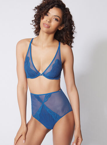 Zoe mesh high waisted briefs