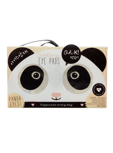 Cooling panda eye pads