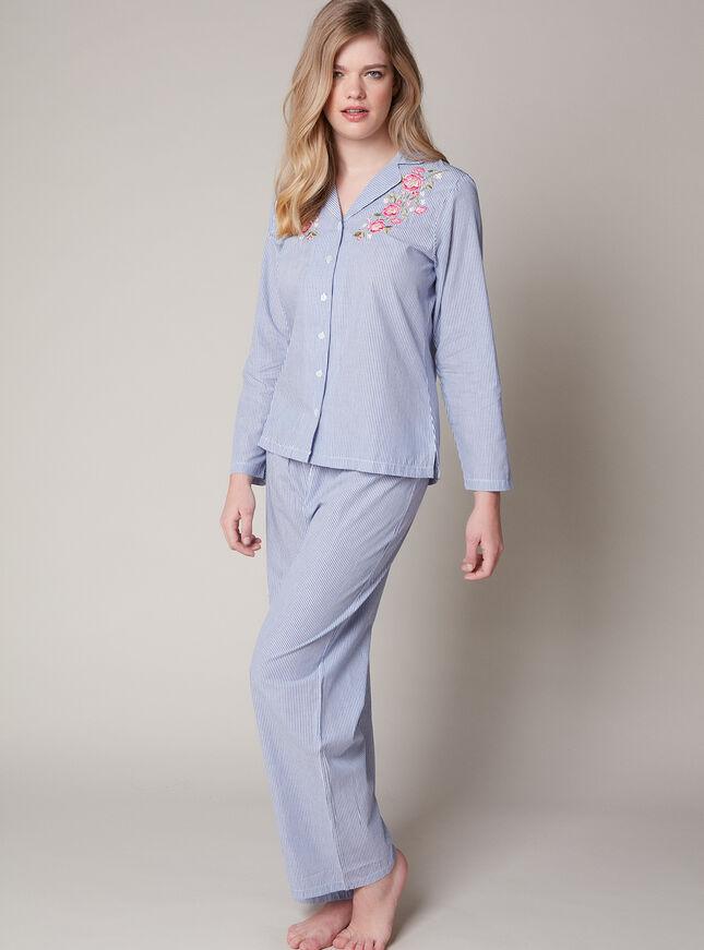 Prairie floral embroidered pyjama set