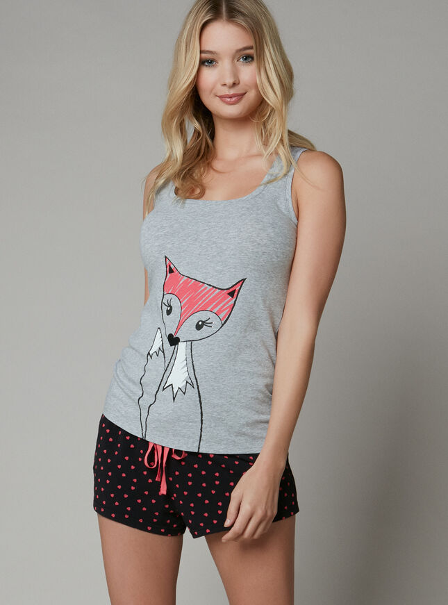 Foxy vest and shorts set