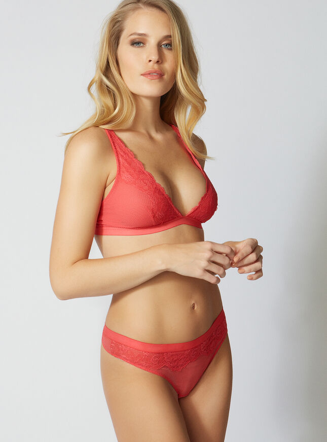 Leanne lace triangle bra
