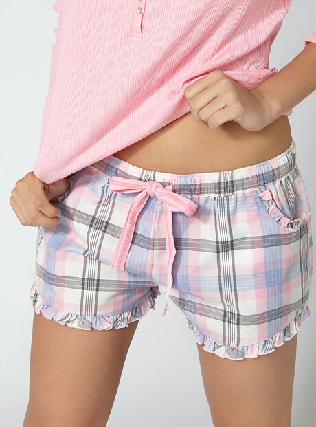Ice queen check shorts