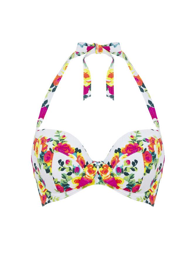 Honolulu floral bikini top