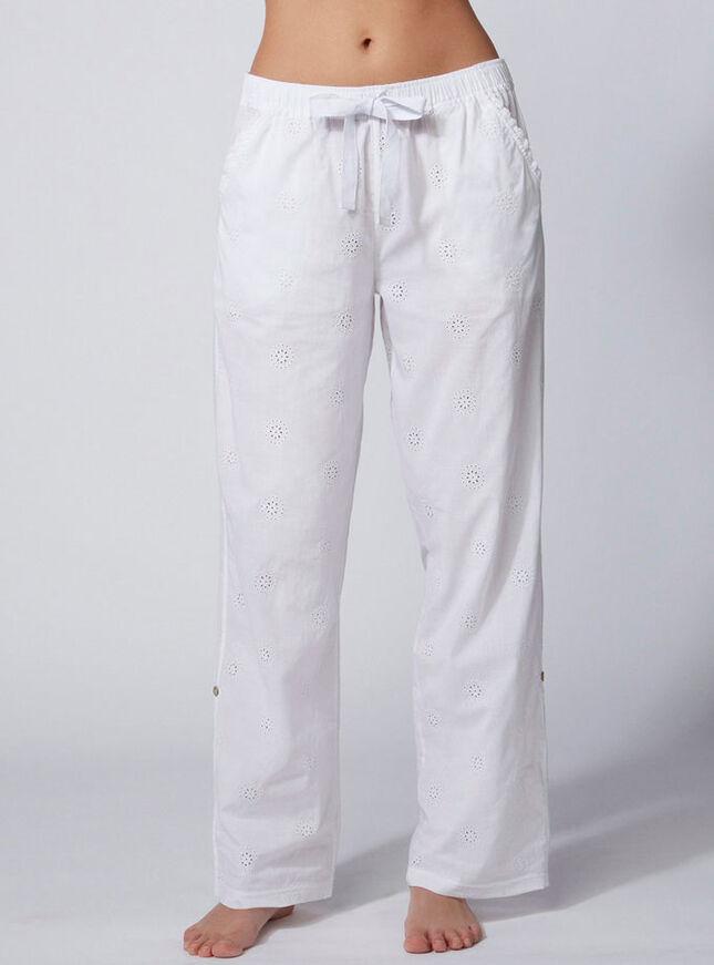 Angel broderie pyjama pants