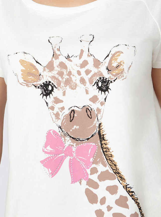 Gini giraffe tee and shorts set