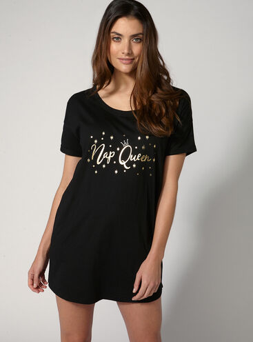 """Nap queen"" sleep tee"