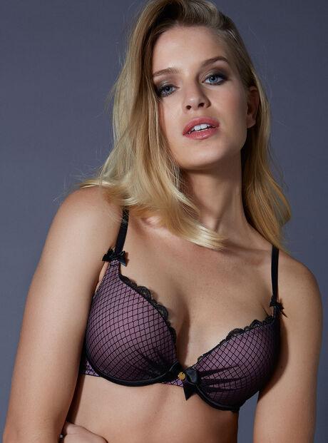 Aimee diamond mesh plunge bra
