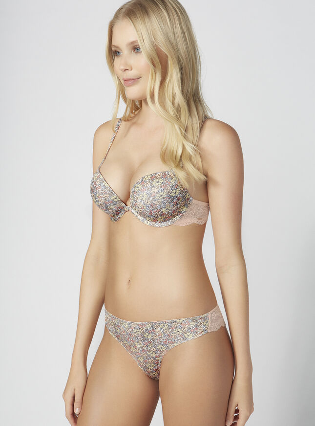 Boux ultra boost ditsy floral plunge bra