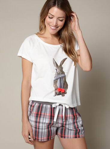 Bunny tee and shorts set