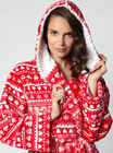 Fairisle hooded robe