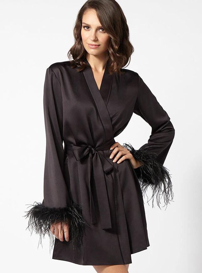 Florrie satin robe