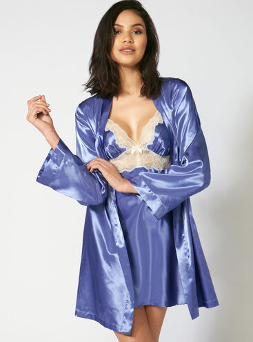 Cheryl satin robe set