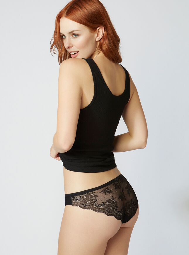 Lace back briefs