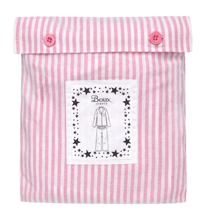 Candy stripe pyjamas in a bag