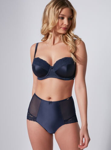 Gilly satin high-waisted briefs